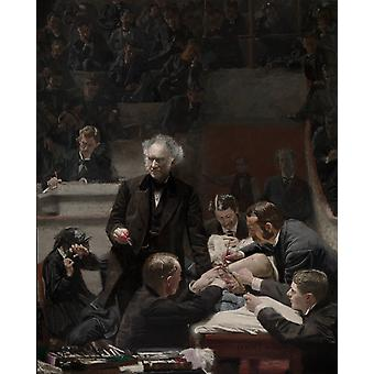 The Gross Clinic, Thomas Eakins Art Reproduction. Realism Style Modern Hd Art Print Poster, Canvas Prints Wall Art For Office Home Decor Pictures