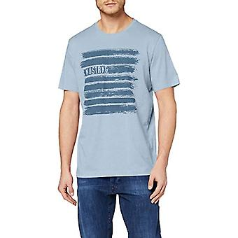 MUSTANG Alex C Print T-Shirt, Azul (Denim descolorido 5124), Hombre pequeño