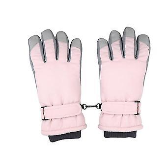 Rosa skihansker kvinner vinter pluss fløyel fortykket varme søt utendørs ridning motorsykkel vindtett og kaldt x4215