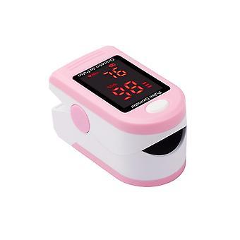 Roze digitale vingertop pulse oximeter bloed zuurstofverzadiging monitor cai1215