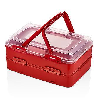 Herzberg Duplex hämtmat bakverk låda röd