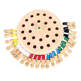 Hölzerne Memory-Schachspiel, lustige Block Brettspiel, Memory Match Stick Schachspiel Eltern-Kind-Spielzeug az4415