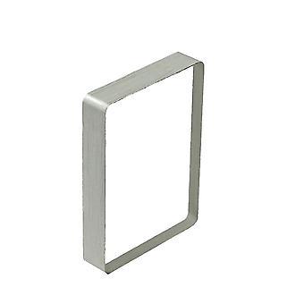 8.7 *6.3*1.4Cmシルバーデッキガラスデッキアイスバウンドトリッククローズアップ錯覚アクセサリーギミックサインをクリアブロック(シルバー)dt2124