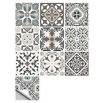 Retro Pattern Matte Surface Tiles Sticker Transfers Covers