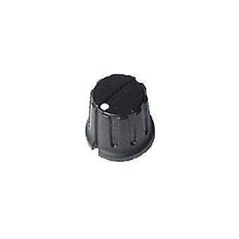 16Mm Ribbed Matt Black Plastic Indicator Knob