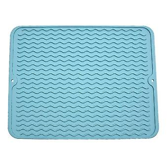Eco-friendly Silicone Dish Drying Mat, Non-slipping And Heat Resistant(Green)