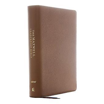 NIV Maxwell Leadership Bible 3rd Edition Genuine Leather Brown Comfort Print  Holy Bible New International Version by General editor John C Maxwell