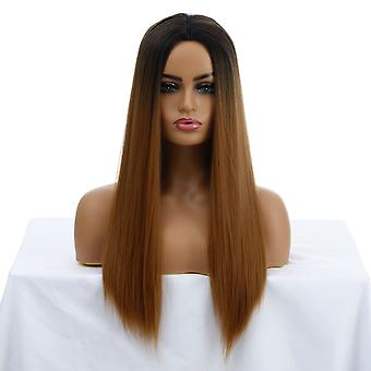 Brand Mall Wigs, Lace Wigs, Realistic Fluffy Long Hair Straight Hair Personality Wigs