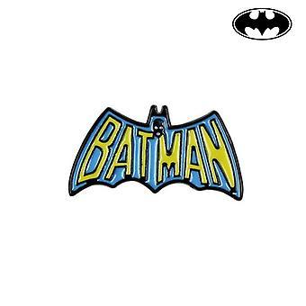Pin Batman Metall Gul Blå