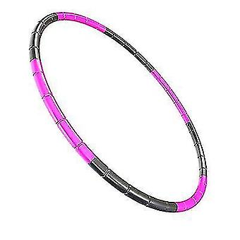 7 Knots Collapsible Hula Hoop 65cm Fitness Exercise Gym Workout Hoola for Children(Red Black)