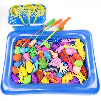 Magnetic Fishing Pool Toys Game For Kids Water Table Bathtub Kiddie Party Toy