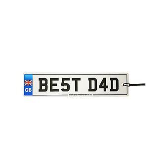 Union Jack - Mejor ambientador de coche de placa de matrícula de papá