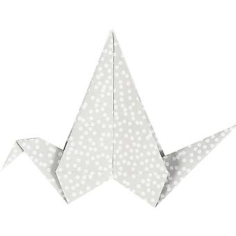 40 roze en grijs palet dubbelzijdige origami papier - 15cm
