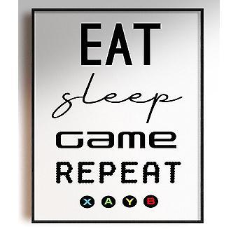 GnG Gaming A4 Ord Sitat Innrammede Plakater For Barn Soverom Kunstverk Spis Søvn spill XB