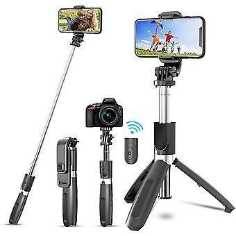 JYPS Bluetooth Selfie Stick Stativ mit abnehmbarer drahtloser Fernbedienung und Stativständer