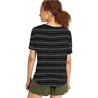 Daily Ritual Women's Jersey Rib Trim Drop-Shoulder Short-Sleeve Scoop Top, Light Heather Grey, Medium