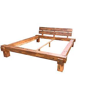 Bed Frame - Platform - Beds - Modern  Brown  Wood  220 cm x 240 cm x 88 cm