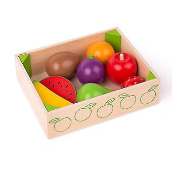 Toy kitchens play food wooden fruit crate - play food and role play toys