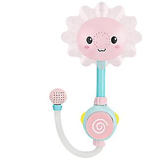Fürdő játékok baba fürdő játékok víz játék nap virág csaptelep elektromos zuhany rózsaszín
