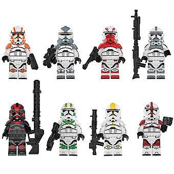 8pcs Star Wars Serie Sturm Klon Corps Wachen Puzzle Baustein Spielzeug
