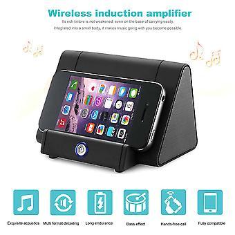 Wireless Mini Smart Induction Speaker Loudspeaker Outdoor Audio Phone Bracket
