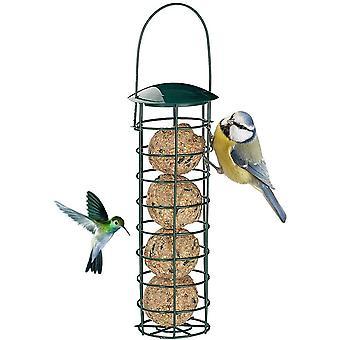 De vogelvoeder is handig voor hangende vogels. De ijzeren feeder is sterk en duurzaam