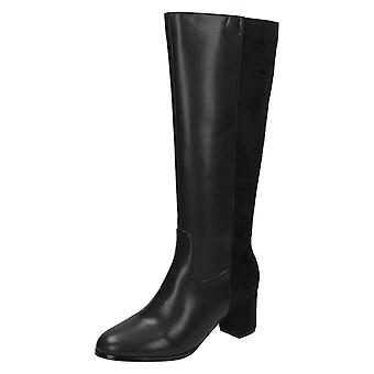Damen-Spot am Knie hohe hochhackige Stiefel F50366