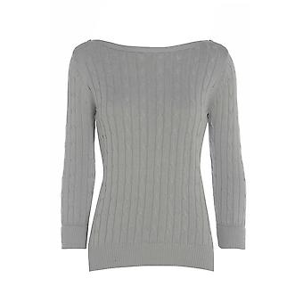 Three Quarter Grey Knitted Jumper UK SIZE 18