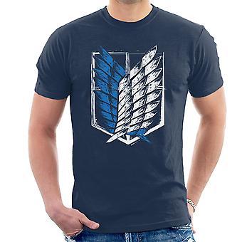 Aanval op Titan vleugels van vrijheid mannen T-Shirt