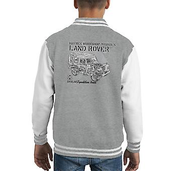 Haynes Owners Workshop Manual Land Rover Mountain Black Kid's Varsity Jacket