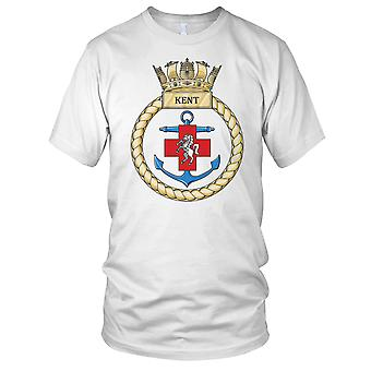 Royal Navy HMS Kent Mens T skjorte