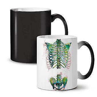 Rib Cage Skeleton NEW Black Colour Changing Tea Coffee Ceramic Mug 11 oz | Wellcoda