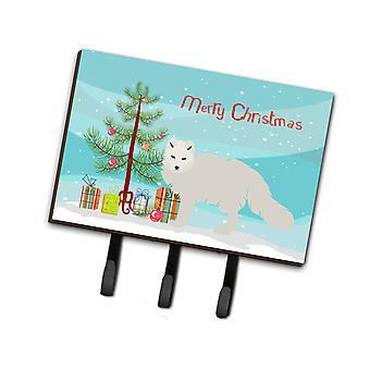 Carolines Treasures  BB9244TH68 White Arctic Fox Christmas Leash or Key Holder