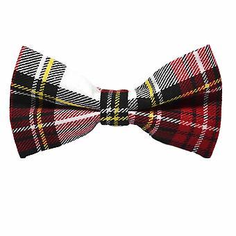 Traditional White & Red Tartan Bow Tie, Check, Plaid