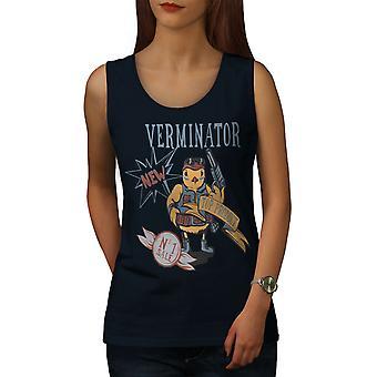 Terminator Funny fantasia naisten NavyTank Top | Wellcoda