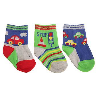 Baby Boys veicolo fantasia calze (pacco da 3)