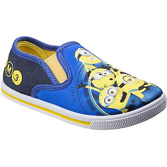 Leomil Boys & Girls Minions Slip On Lightweight Casual Trainers Shoes