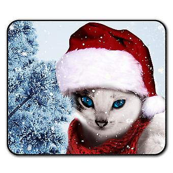 Christmas Cat anti-slip Mat muismat 24 x 20 cm | Wellcoda