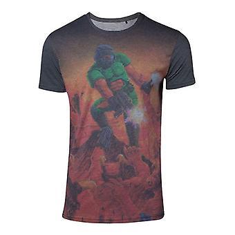Mens Doom Box Art Sublimation T-Shirt Small (TS262062DOOM-S)