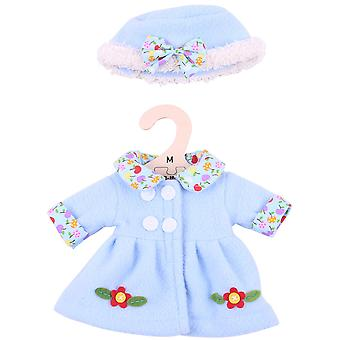 Bigjigs Toys Blue Rag Doll Coat & Hat (34cm) Clothing Outfit Dress Up