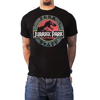 Jurassic Park T Shirt Park personeel Logo film nieuwe officiële Mens zwart