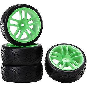 Reely 01:10 versão estrada verde rodas diabo GT Neon 4 PC (s)