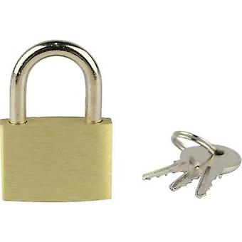 Brüder Mannesmann 413-30 Padlock 25 mm Gold yellow Key