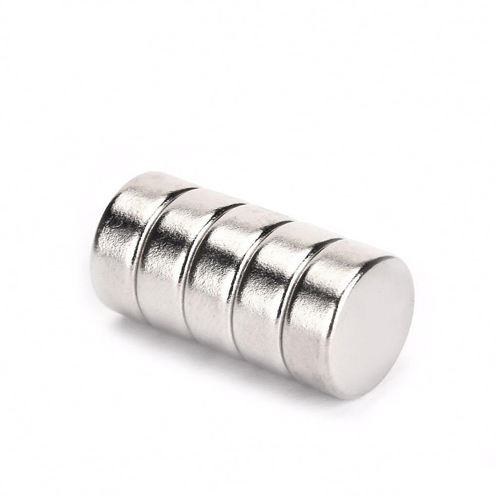 Neodym Magnet 12 x 5 mm Scheibe N35 - 5 Stück