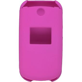 Two Piece Soft Touch Snap-On Case for LG 230 LG230 - Pink