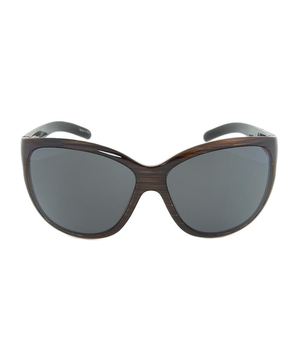 Porsche Design Design P8524 C Sunglasses | Striped Brown Frame | grey Lens