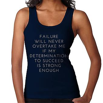 Epäonnistuminen koskaan ohittaa minulle naisten liivi