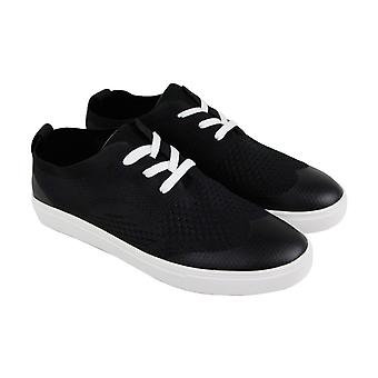 Robert Wayne Datin  Mens Black Canvas Casual Fashion Sneakers Shoes