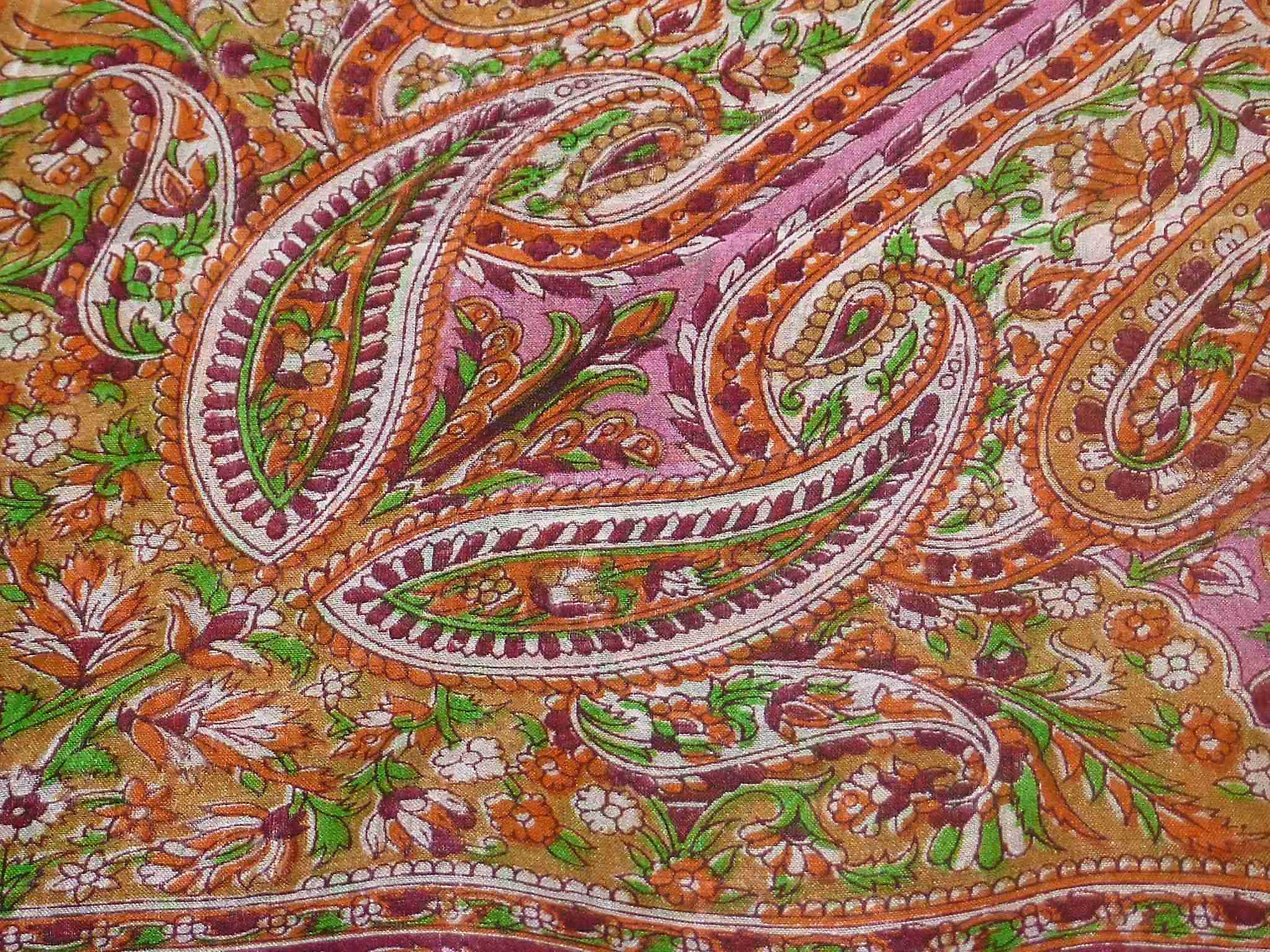 Mulberry Silk Traditional Square Scarf Sarnath Red by Pashmina & Silk