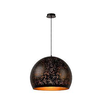 Eternelle lucide d'aluminium ronds modernes pendentif brun rouille Light
